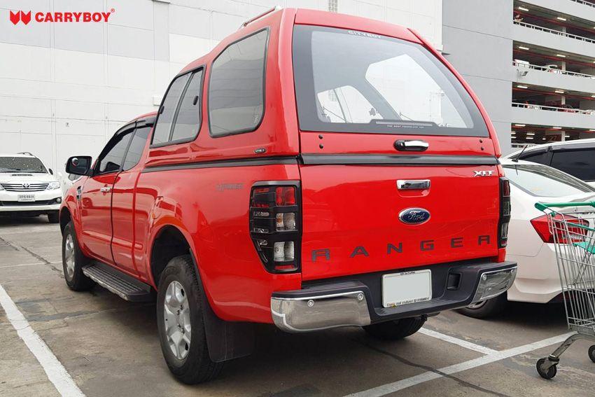 CARRYBOY Glasfaserhardtop Transporthardtop 840 Überhöhe Ford Ranger Extrakabine 2012+große Heckklappe