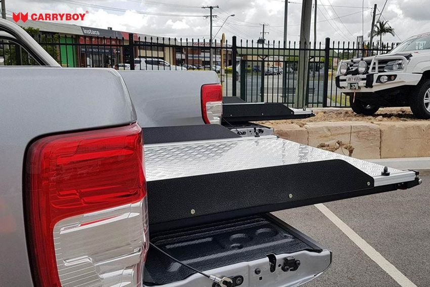 CARRYBOY Ladebodenauszug ausziehbare Ladefläche 350kg Belastung Aluminium