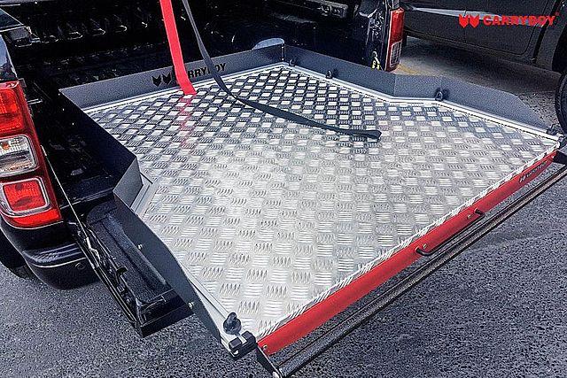 CARRYBOY Ladebodenauszug ausziehbarer Ladeboden 350kg Premium Aluminium Vollbett leichtgängig durch Kugellager