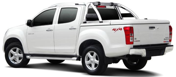 CARRYBOY Laderaumabdeckung SLX Deckel in Wagenfarbe mit Edelstahlbügel Ford Ranger 2012+ Doppelkabine
