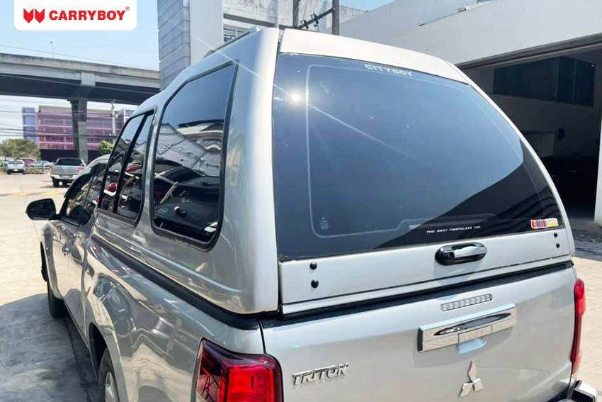 CARRYBOY Hardtop 840 mit Überhöhe Mitsubishi L200 Clubcab_Extrakabine maximal möglicher Stauraum extrem belastbar