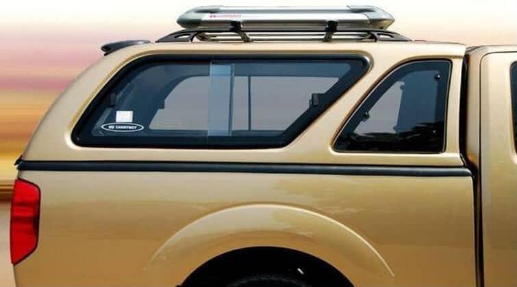 CARRYBOY Hardtop Nissan Navara D40 Kingcab_Extrakabine  seitliche Schiebefenster und Lüftungsfenster