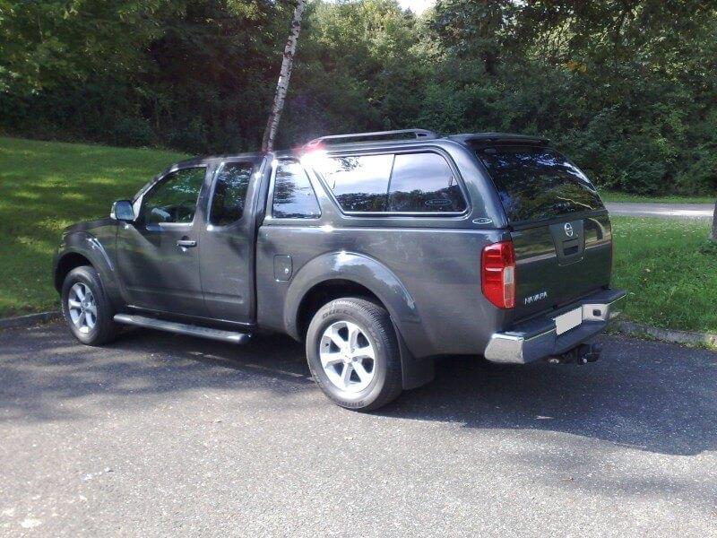 CARRYBOY Hardtop mit Schiebefenster Nissan Navara D40 Kingcab_Extrakabine  Lackierung in Wagenfarbe