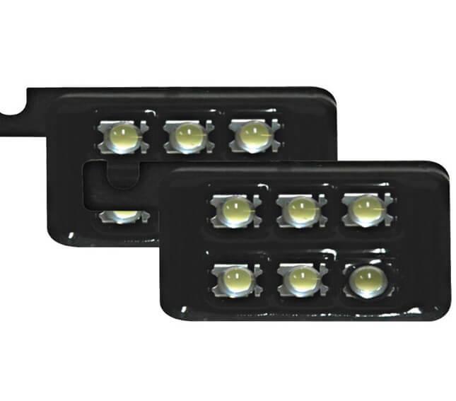 6 LED Einheiten á 6 Birnchen