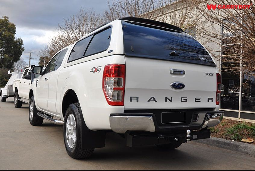 CARRYBOY Hardtop 560gF mit großen Schiebefenster für Ford Ranger Extrakabine sicher abschließbar