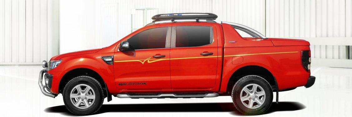 CARRYBOY Laderaumabdeckung Deckel mit Edelstahl Überrollbügel GRX-FTD Ford Ranger Doppelkabine