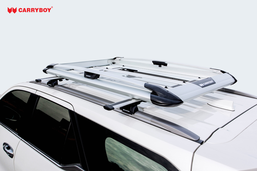 CARRYBOY Dachgepäckkorb Aluminium Aufbau auf Autodach