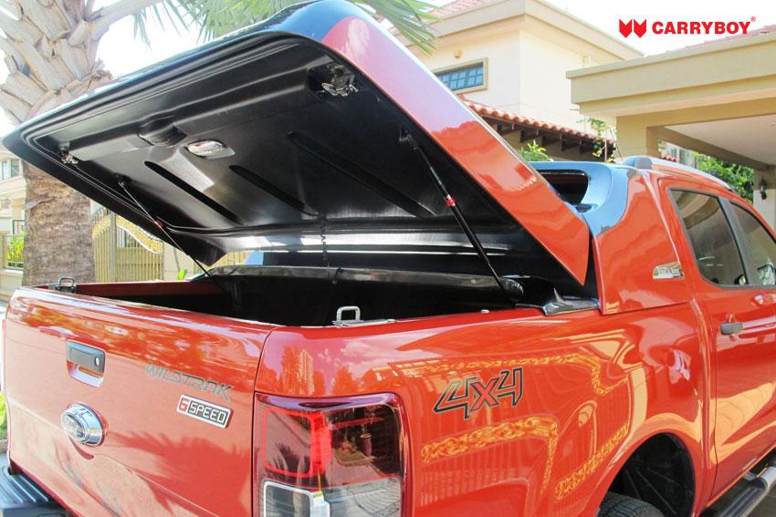 CARRYBOY Laderaumabdeckung Deckel Fullbox Mitsubishi L200 Langbett 2005-2015 einfacher Einbau