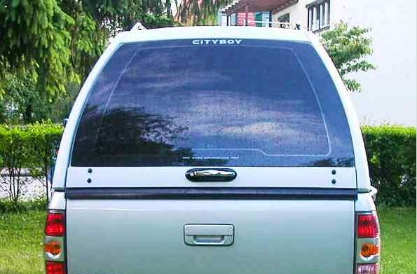 CARRYBOY Hardtop 840oS für Ford Ranger Singlecab ohne Fenster über Kabinenhöhe hohes Hardtop sicher abschließbar