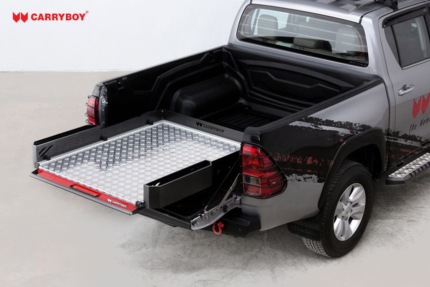 CARRYBOY Ladebodenauszug ausziehbare Ladefläche 350kg Belastung Aluminium weit herausziehbar