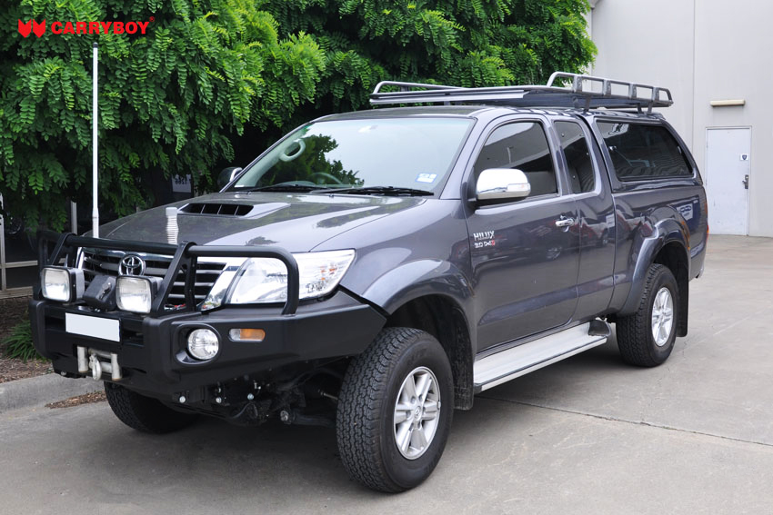 CARRYBOY Hardtop mit großen Schiebefenstern 560gF-TRC Toyota Hilux Revo Invincible Extrakabine