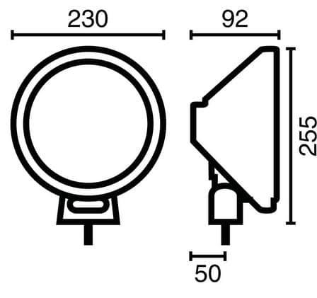 NOVISauto LED Fernscheinwerfer Modell 105 603