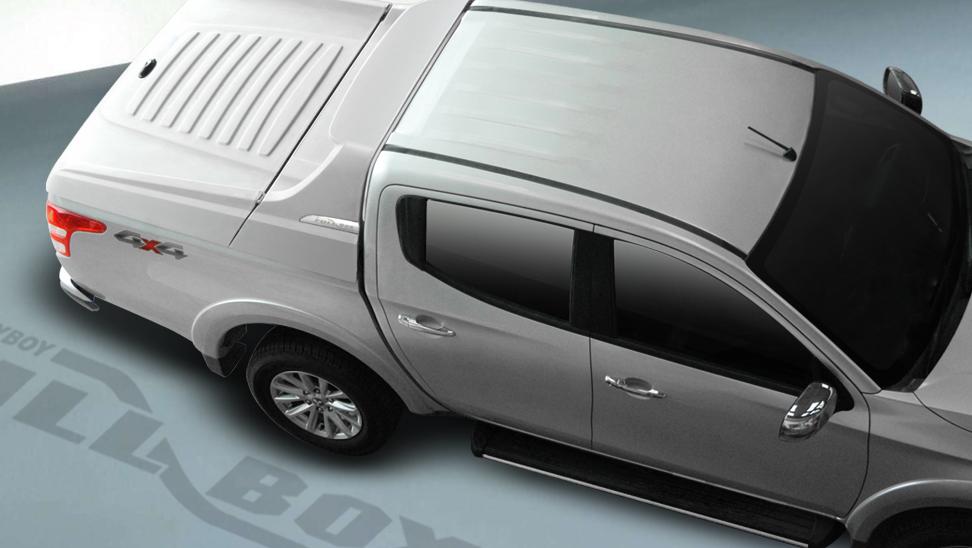 CARRYBOY Laderaumabdeckung Deckel mit Sportbügel sicher abschließbar Mitsubishi L200 Doppelkabine