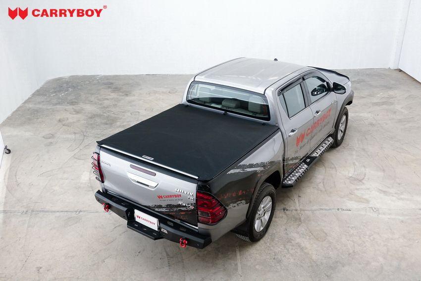CARRYBOY Toyota Hilux Revo Invincible Doppelkabine Laderaumabdeckung Vinyplane geschlossen Klettverschluss