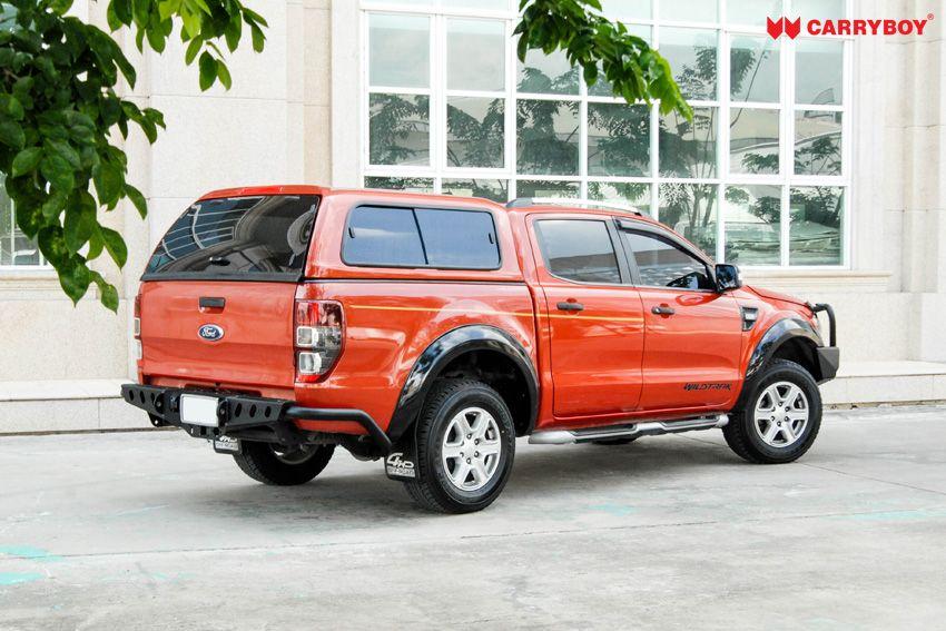 CARRYBOY GFK Hardtop SO56-FTD Schiebefenster Klappfenster Kombination mit neuem Design Ford Ranger Doppelkabine Schiebefenster Beifahrerseite Lüftung