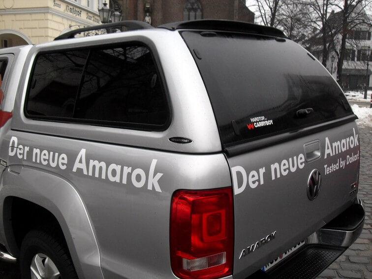 CARRYBOY Hardtop 560 mit seitlichen Schiebefenster für VW Amarok Doppelkabine getönte Scheiben