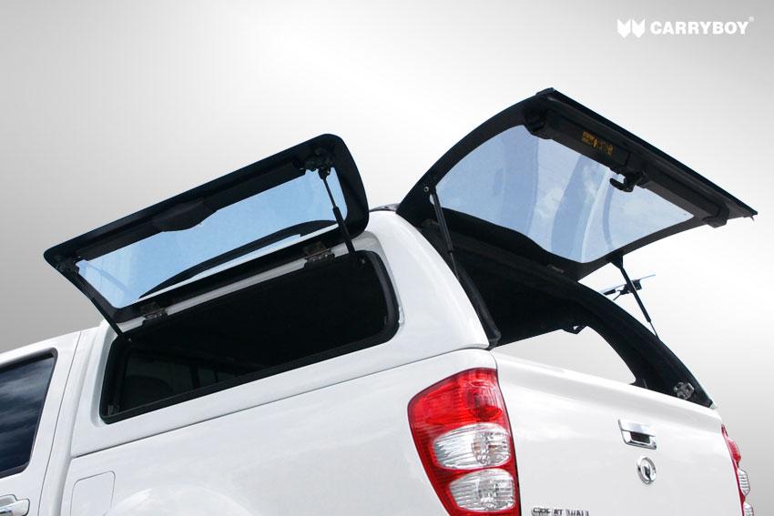 CARRYBOY Hardtop mit seitlichen Klappfenstern SO-SKD SsangYong Actyon Sport Doppelkabine große Seitenöffnung